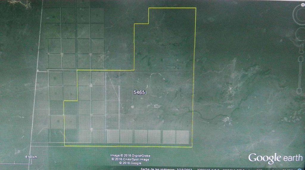Vista en Google Earth del campo de Macri en Salta. Fotos: Chequeado.