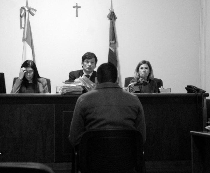 Anibal Aguirrez Manzur durante el juicio oral. Foto: Facebook Correpi.